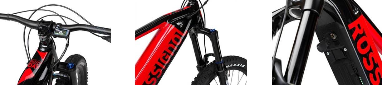 Dettagli Rossignol E-bike rossa e nera